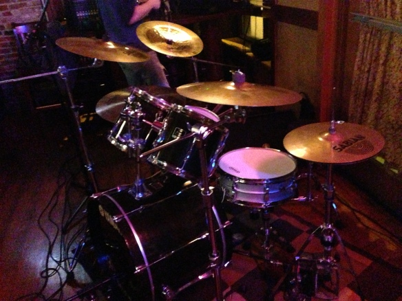 A.J.'s drums at Llywelyn's